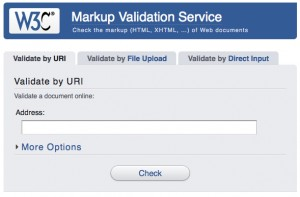 w3 validator service